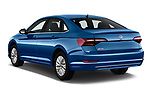 Car pictures of rear three quarter view of a 2019 Volkswagen Jetta S 4 Door Sedan angular rear