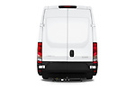 Straight rear view of 2018 Iveco Daily S 4 Door Cargo Van Rear View  stock images