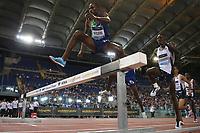 Benjamin KIGEN (KEN) skips the obstacle 3000m Steeplechase Men<br /> Roma 06-06-2019 Stadio Olimpico, <br /> IAAF Diamond League Golden Gala<br /> Meeting Atletica Leggera <br /> Photo Cesare Purini / Insidefoto