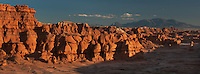 920950006 panoramic view of hoodoo formations in the high desert of goblin valley state park utah united states
