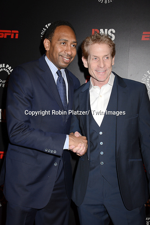 Stephen A Smith and Skip Bayless of ESPN attends The Paley Center for Media's Annual Benefit Dinner honoring ESPN' s 35th Anniversary on May 28, 2014 at 583 Park Avenue in New York City, NY, USA.