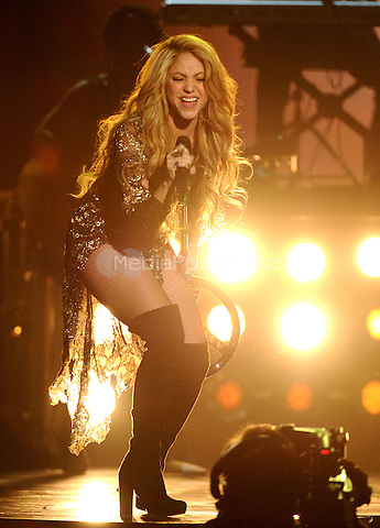 LAS VEGAS, NV - MAY 18: Shakira performs on the 2014 Billboard Music Awards at the MGM Grand Garden Arena on Sunday, May 18, 2014 in Las Vegas, Nevada. PgMicelotta/MediaPunch