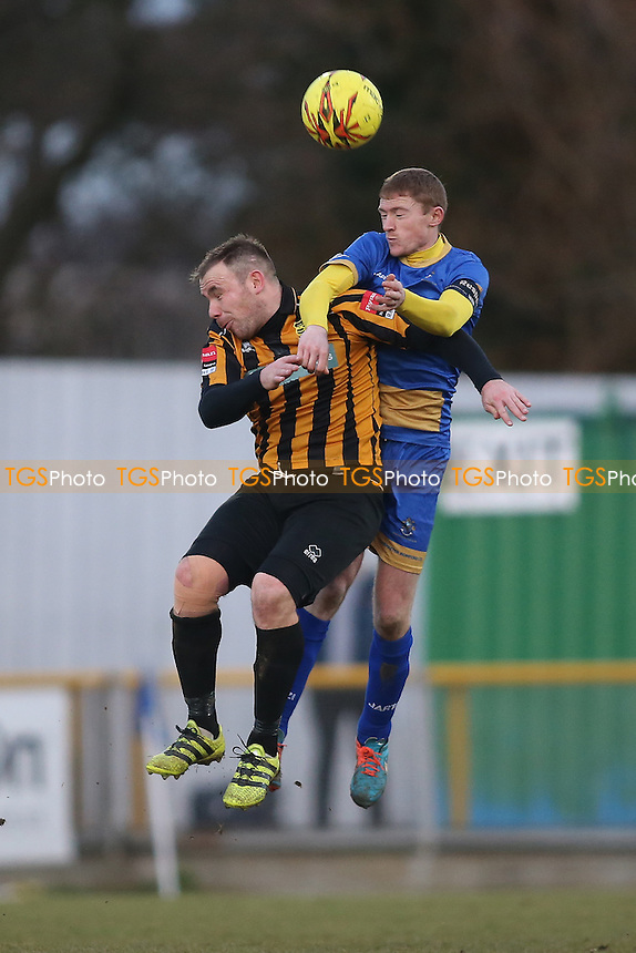Danny Cossington of Romford and Tom Bruno of Cheshunt during Romford vs Cheshunt, Ryman League Division 1 North Football at Ship Lane on 28th January 2017