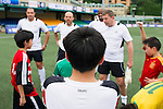 Citibank All Stars coaching Clinic during the HKFC Citibank International Soccer Sevens at the Hong Kong Football Club Stadium on May 17, 2012 in Hong Kong. Photo by Mike Pickels / The Power of Sport Images for HKFC
