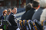 Gov. Brian Sandoval listens to a ceremony announcing the addition of a United Soccer League franchise in Reno, Nev., on Wednesday, Sept. 16, 2015 at the Aces Ballpark. <br /> Photo by Cathleen Allison