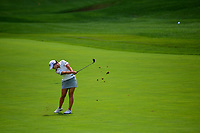 Lydia Ko (NZL) hits her approach shot on 1 during Saturday's third round of the 72nd U.S. Women's Open Championship, at Trump National Golf Club, Bedminster, New Jersey. 7/15/2017.<br /> Picture: Golffile | Ken Murray<br /> <br /> <br /> All photo usage must carry mandatory copyright credit (&copy; Golffile | Ken Murray)