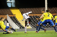 Moussa Dembele shows his skills and scores Fulham's second goal with a back heel