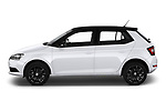 Car Driver side profile view of a 2018 Skoda Fabia Ambition 5 Door Hatchback Side View
