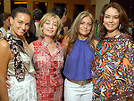 Carla Valencia de Martinez, Cathy Borlenghi, Anamaria Arboleda and Cristina Gonzalez at the Latin Women's Initiative luncheon at the InterContinental Houston Friday May 08,2009.(Dave Rossman/For the Chronicle)