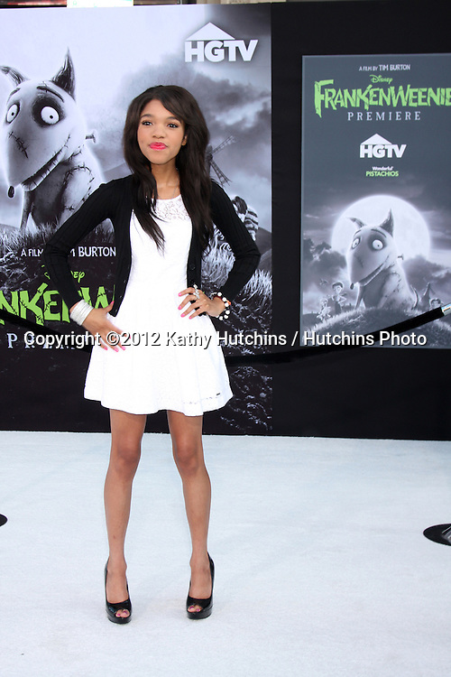 """LOS ANGELES - SEP 24:  Teala Dunn arrives at the """"Frankenweenie"""" Premiere at El Capitan Theater on September 24, 2012 in Los Angeles, CA"""
