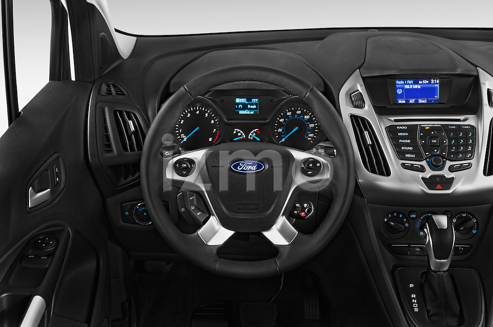 Car pictures of steering wheel view of a 2016 Ford Transit-Connect XLT-LWB 5 Door mini MPV Steering Wheel