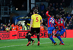Crystal Palace's Sakary Bako scoring his sides opening goal during the premier league match at Selhurst Park Stadium, London. Picture date 12th December 2017. Picture credit should read: David Klein/Sportimage