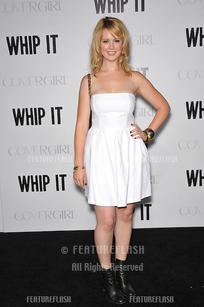 """Aynsley Bubbico at the Los Angeles premiere of """"Whip It"""" at Grauman's Chinese Theatre, Hollywood. September 29, 2009  Los Angeles, CA.Picture: Paul Smith / Featureflash"""