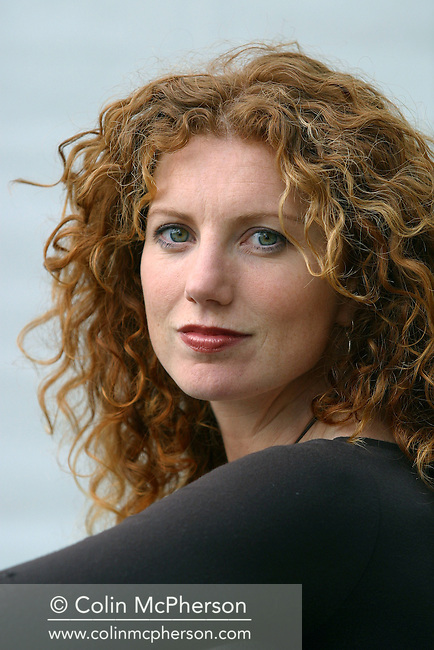 Broadcaster and geographer Vanessa Collingridge, pictured at the Edinburgh International Book Festival where she talked her book tracing life and legacy of Captain Cook. The Book Festival is the world's biggest literary festival with appearances by over 500 authors from across the world..........