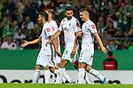 10.08.2019, wohninvest WESERSTADION, Bremen, GER, DFB-Pokal, 1. Runde, SV Atlas Delmenhorst vs SV Werder Bremen<br /> <br /> im Bild<br /> Jubel 1:5, <br /> Claudio Pizarro (Werder Bremen #14) bejubelt seinen Treffer zum 1:5 mit Milot Rashica (Werder Bremen #07), <br /> <br /> während DFB-Pokal Spiel zwischen SV Atlas Delmenhorst und SV Werder Bremen im wohninvest WESERSTADION, <br /> <br /> Foto © nordphoto / Ewert