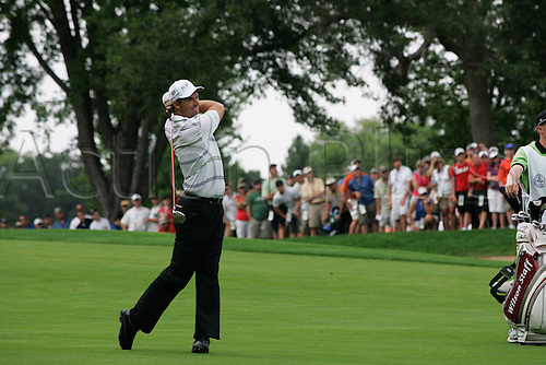13 August 2009:  Padraig Harrington of Ireland hits a shot during the first round of the 91st PGA Championship at Hazeltine National Golf Club in Chaska, Minnesota. (photo Charles Baus/Actionplus)