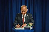 NOVA YORK, EUA - 23.09.2019 - ONU-NOVA YORK -  Ueli Maurer, Presidente da Suíça durante encontro com  Antonio Guterres Secretário-geral das Nações Unidas na sede das Nações Unidas (ONU) em Nova York nos Estados Unidos nesta segunda-feira, 23 setembro. (Foto: Vanessa Carvalho/Brazil Photo Press)