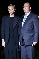 Prince Albert II de Monaco et sa femme Charlene<br /> Parigi 10-11-2018 <br /> Museo d'Orsay Cena Ufficiale Capi di Stato <br /> Commemorazione 100 anni dalla fine della Grande Guerra, Prima Guerra Mondiale <br /> Foto Gwendoline LeGoff/Panoramic / Insidefoto