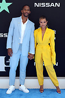 LOS ANGELES, CA - JUNE 23: Victor Cruz and Karrueche Tran at the 2019 BET Awards at the Microsoft Theater in Los Angeles on June 23, 2019. Credit: Walik Goshorn/MediaPunch