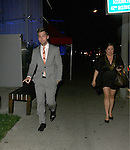 April 25th 2012 ..Lance Bass & a female companion dine at Boa Steakhouse in West Hollywood...AbilityFilms@yahoo.com.805-427-3519.www.AbilityFilms.com