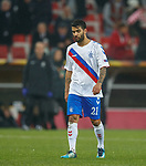 08.11.18 Spartak Moscow v Rangers: Daniel Candeias troops off