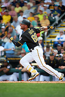 Pittsburgh Pirates left fielder Danny Ortiz (68) at bat during a Spring Training game against the Toronto Blue Jays  on March 3, 2016 at McKechnie Field in Bradenton, Florida.  Toronto defeated Pittsburgh 10-8.  (Mike Janes/Four Seam Images)