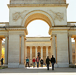 .The Legion of Honor in Lincoln Park, San Francisco offers outstanding views of the Golden Gate Bridge from the surrounding trails