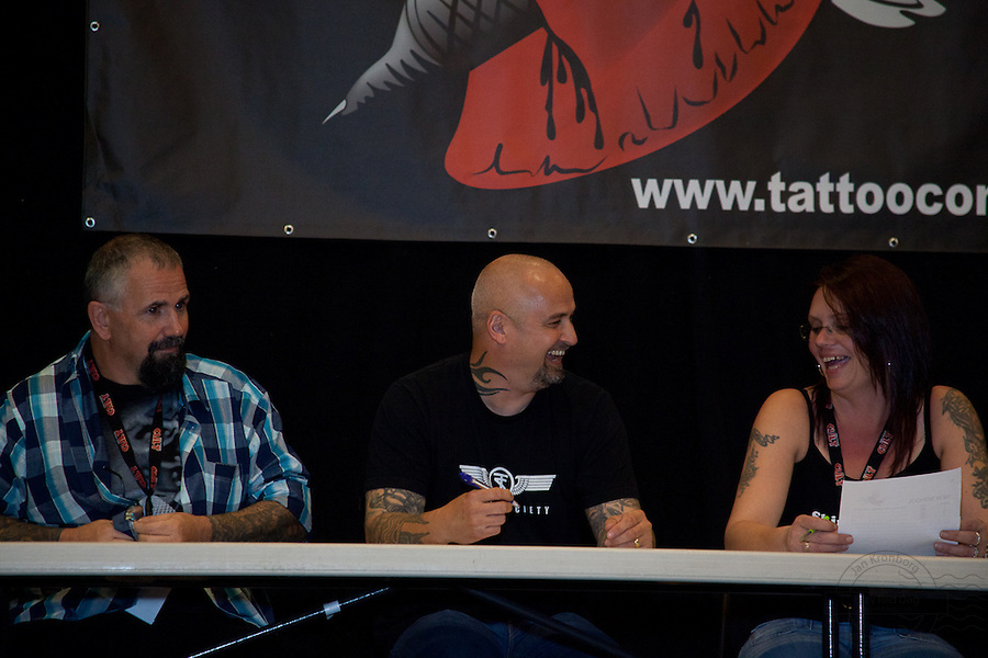 Tattoo Convention in Kolding 2011. Arranged by BodyMod.dk<br /> Judges at competition.
