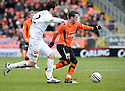 :: DUNDEE UTD'S DANNY SWANSON WHO HAS BEEN PRAISED BY MANAGER PETER HOUSTON FOR HIS PERFORMANCE  ::