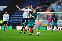 Scott Sinclair of Preston North End vies for possession with George Byers of Swansea City during the Sky Bet Championship match between Preston North End and Swansea City at the Deepdale Stadium in Preston, England, UK. Saturday 01 February 2020