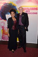 Michaelle JEAN ( Organisation internationale de la Francophonie ) et son mari Daniel LAFOND - Representation Robert Charlebois au theatre Bobino - 11 avril 2016 - Paris - France