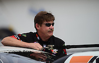 Sept. 30, 2012; Madison, IL, USA: NHRA pro stock driver Mike Edwards during the Midwest Nationals at Gateway Motorsports Park. Mandatory Credit: Mark J. Rebilas-