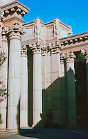 Bernard Maybeck: Palace of Fine Arts, San Francisco, 1915. Columns. Photo '83.