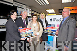 WHAT TO CHOOSE: This weeks buyKerry winner Sheila O'Flaherty from Tralee is looking forward to buying some new electrical items from Hugh Culloty's in Tralee. From l-r were: Suzanne Ennis (TCU), Fintan Ryan (Manager TCU), Sheila O'Flaherty, Eileen Curtin (Kerry's Eye) and Hugh Culloty.