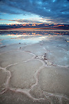 Sunrise over the Panamint Range, with reflection in Badwater