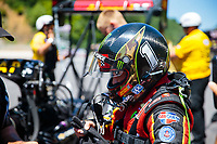 Jun 16, 2018; Bristol, TN, USA; NHRA top fuel driver Brittany Force during qualifying for the Thunder Valley Nationals at Bristol Dragway. Mandatory Credit: Mark J. Rebilas-USA TODAY Sports