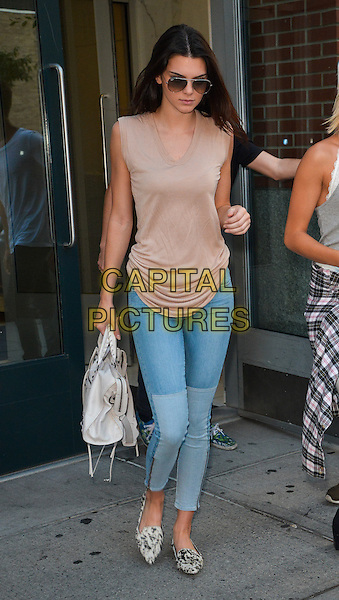 NEW YORK, NY - SEPTEMBER 1: Kendall Jenner leaving her home in New York, New York on September 1, 2014. <br /> CAP/MPI/RW<br /> &copy;RW/MPI/Capital Pictures