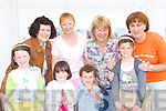 Enjoying the weather the opening of Rossbeigh playground on Sunday front row l-r: Ailbhe Clifford, Holly Clifford, Brain Cahill, Chloe Cahill. Back row: Lorraine Clifford, Eileen Riordan, Mary O'Sullivan and Veronica Sugrue   Copyright Kerry's Eye 2008