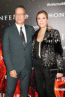 LOS ANGELES, CA - OCTOBER 25: Tom Hanks and Rita Wilson at  the screening of Sony Pictures Releasing's 'Inferno' held at the DGA Theater on October 25, 2016 in Los Angeles, California. Credit: David Edwards/MediaPunch