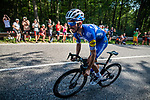 Julian Alaphilippe (FRA) Deceuninck-Quick Step during Stage 3 of the Deutschland Tour 2019, running 189km from Gottingen to Eisenach, Germany. 31st August 2019.<br /> Picture: ASO/Marcel Hilger | Cyclefile<br /> All photos usage must carry mandatory copyright credit (© Cyclefile | ASO/Marcel Hilger)
