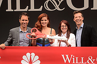 """LOS ANGELES - AUG 2:  Eric McCormack, Debra Messing, Megan Mullally, Sean Hayes at the """"Will & Grace"""" Start of Production Kick Off Event at the Universal Studios on August 2, 2017 in Universal City, CA"""