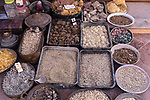 A vendor selling frankincense, myrrh, and amber in Petra in the Hashemite Kingdom of Jordan.  Petra Archeological Park is a Jordanian National Park and a UNESCO World Heritage Site.