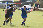 Tuakau halfback Ngatuhi Ewe looks to fend off Paul Tini. CMRFU Counties Power Game of the Week between Te Kohanga & Tuakau played at Te Kohanga on Saturday April 19th, 2008..Tuakau won 3 - 0 with a first halve penalty.