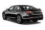 Car pictures of rear three quarter view of 2017 Ford Taurus SHO 4 Door Sedan Angular Rear