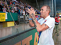 Fernando Ricksen Testimonial :  Fernando Ricksen does a lap of honour a at the end of the game.