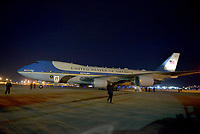 WEST PALM BEACH, FL ñ NOVEMBER 21: General view of Air Force One on the tarmac at  Palm Beach International Airport with U.S. President Donald Trump his wife Melania Trump and son Barron Trump inside to spend Thanksgiving weekend at Mar-a-Largo resort November 21, 2017 in West Palm Beach, Florida. President Trump has made numerous trips to his Florida home since being President. Credit: MPI10 / MediaPunch NortePhoto.com
