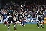 Carlisle United 1 Newcastle United 1, 21/07/2007. Brunton Park, Pre-season Friendly. Newcastle United's new signing Joey Barton (centre) in action in his team's team's pre-season friendly against Carlisle United at the Cumbrian's Brunton Park ground. The match ended one goal each with Newcastle equalising Danny Livesey's opener through Nolberto Solano in the last minute. During the 2007-08 season Carlisle played in League One, English football's third tier, while Newcastle were a top Premiership team. Photo by Colin McPherson.