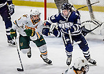 10 February 2017: University of New Hampshire Wildcat Forward Tyler Kelleher, a Senior from Longmeadow, MA, in third period action against the University of Vermont Catamounts at Gutterson Fieldhouse in Burlington, Vermont. The Wildcats came from behind to defeat the Catamounts 4-2 in the first game of their 2-game Hockey East Series. Mandatory Credit: Ed Wolfstein Photo *** RAW (NEF) Image File Available ***