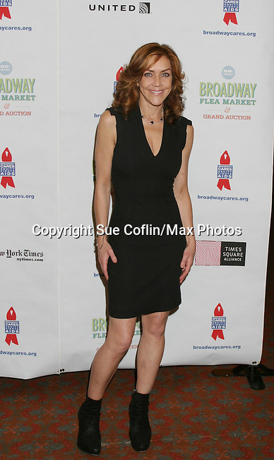 """Search for Tomorrow Andrea McArdle (original Annie) and """"Wendy Wilkins McNeal"""" at The 26th Annual Broadway Flea Market and Grand Auction to benefit Broadway Cares/Equity Fights Aids on September 23, 2012 in Shubert Alley and Times Square, New York City, New York.  (Photo by Sue Coflin/Max Photos)"""