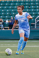 Rochester, NY - Friday July 01, 2016: Chicago Red Stars defender Samantha Johnson (16) during a regular season National Women's Soccer League (NWSL) match between the Western New York Flash and the Chicago Red Stars at Rochester Rhinos Stadium.